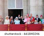 queen elizabeth   royal family  ... | Shutterstock . vector #661840246