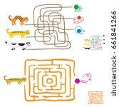 maze games for preschoolers.... | Shutterstock .eps vector #661841266