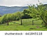beautiful farm | Shutterstock . vector #661845118