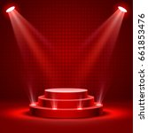 stage podium with lighting ... | Shutterstock .eps vector #661853476
