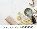 spa beauty cosmetics on white... | Shutterstock . vector #661858045