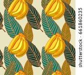 tropical pattern design.... | Shutterstock .eps vector #661860235