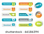 vector download buttons and... | Shutterstock .eps vector #66186394