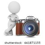 the photographer. dude 3d... | Shutterstock . vector #661871155