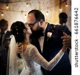 newlywed couple dancing wedding ... | Shutterstock . vector #661876642