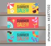 summer sale background for... | Shutterstock .eps vector #661877332