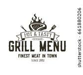 grill menu emblem template.... | Shutterstock . vector #661880206