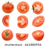 A Slice Tomato Isolated