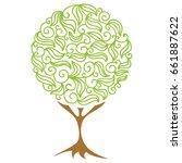 beautiful tree. vector...   Shutterstock .eps vector #661887622
