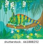 vector image of bright... | Shutterstock .eps vector #661888252