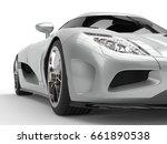 Luxury Silver Super Sports Car...