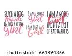 i am a super girl.  such a big... | Shutterstock .eps vector #661894366