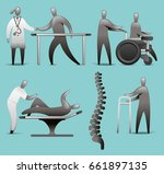 physiotherapy icon set   Shutterstock .eps vector #661897135