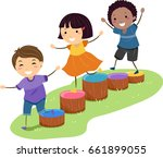 illustration of stickman kids...   Shutterstock .eps vector #661899055