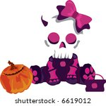 skull halloween   Shutterstock . vector #6619012