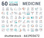 set line icons  sign in flat... | Shutterstock . vector #661903672