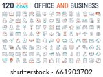 set line icons in flat design... | Shutterstock . vector #661903702