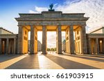 The Brandenburg Gate In Berlin...