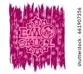 vector illustration pink shabby ...   Shutterstock .eps vector #661907356