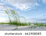 Sea Oat And Sand Dunes At The...
