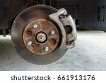 car without wheels  closeup... | Shutterstock . vector #661913176