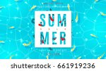 web banner for summer sale with ... | Shutterstock .eps vector #661919236