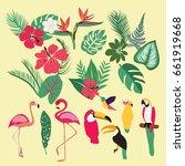 vector tropical set of tropical ... | Shutterstock .eps vector #661919668