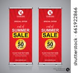 roll up brochure flyer banner... | Shutterstock .eps vector #661922866