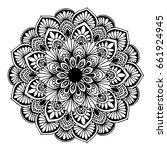 mandalas for coloring book.... | Shutterstock .eps vector #661924945