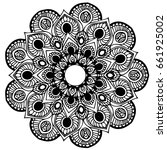 mandalas for coloring book.... | Shutterstock .eps vector #661925002