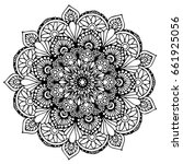mandalas for coloring book.... | Shutterstock .eps vector #661925056