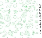vegetables and fruits  pattern  ... | Shutterstock .eps vector #661929448