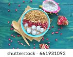 bowl of homemade healthy... | Shutterstock . vector #661931092