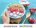bowl of homemade healthy... | Shutterstock . vector #661931146