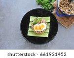 kao pad kra prao or thai rice... | Shutterstock . vector #661931452
