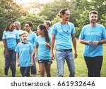 group of diversity people...   Shutterstock . vector #661932646