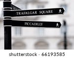 London Street Signpost With...