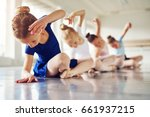 little ballerinas doing... | Shutterstock . vector #661937215