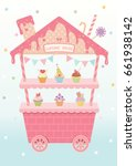 cupcake house design for booth... | Shutterstock .eps vector #661938142