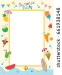 summer party design for... | Shutterstock .eps vector #661938148