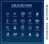 blockchain icon set.... | Shutterstock .eps vector #661950436