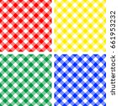 picnic table cloth. color... | Shutterstock .eps vector #661953232