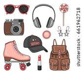 vector sport woman's fashion...   Shutterstock .eps vector #661962718