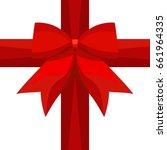 vector simple flat red silk... | Shutterstock .eps vector #661964335
