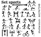 a set of people playing sports | Shutterstock .eps vector #661967248