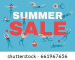 summer sale background | Shutterstock .eps vector #661967656