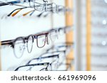 in optician shop  glasses for... | Shutterstock . vector #661969096
