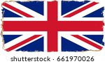 uk flag grunge background.... | Shutterstock . vector #661970026