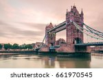 colored image of london tower... | Shutterstock . vector #661970545