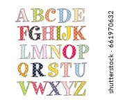 cute dotted alphabet isolated... | Shutterstock .eps vector #661970632